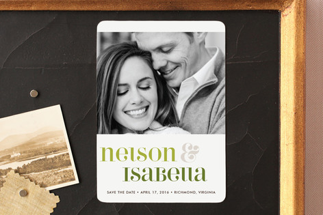 Love Lettered Save The Date Magnets