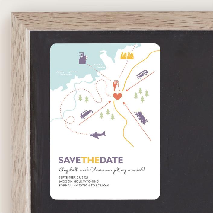 """""""Destination"""" - Save The Date Magnets in Lilac Haze by leslie hamer."""
