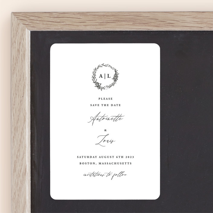 """""""Antoinette"""" - Save The Date Magnets in Ivory by lulu and isabelle."""