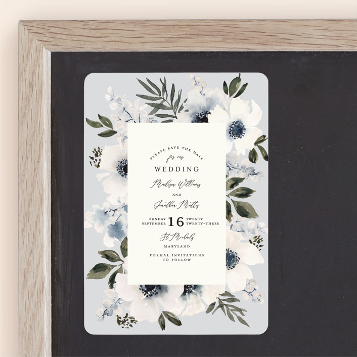 """""""Nantucket Romance"""" - Save The Date Magnets in Marine by Chris Griffith."""