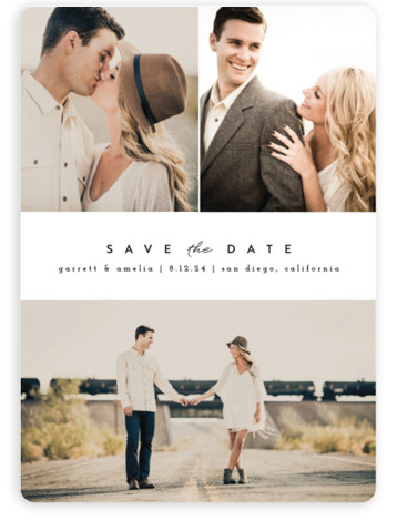 This is a landscape, portrait, square orientation simple and minimalist, black and white Save the Dates by peony papeterie called Simple Date with Standard printing on Magnet Paper in Magnet Flat Card format. This save the date is simple and ...