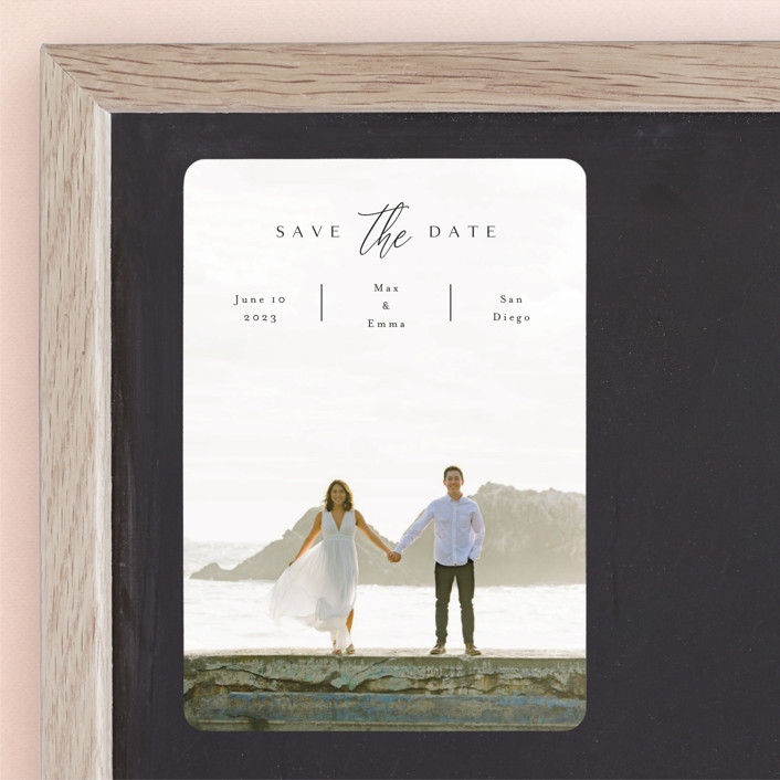 """""""the announcement"""" - Save The Date Magnets in Onyx by Kasia Labocki."""
