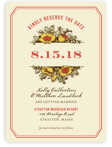 This is a portrait rustic, oragne Save the Dates by Paper Dahlia called Harvest Floral with Standard printing on Magnet Paper in Magnet Flat Card format. Our most popular Save the Date designs are now available as beautiful, high quality ...