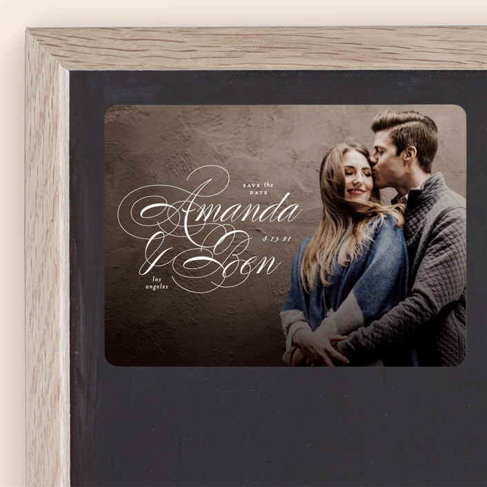 """""""Nestled"""" - Save The Date Magnets in Cream by Roxy Cervantes."""