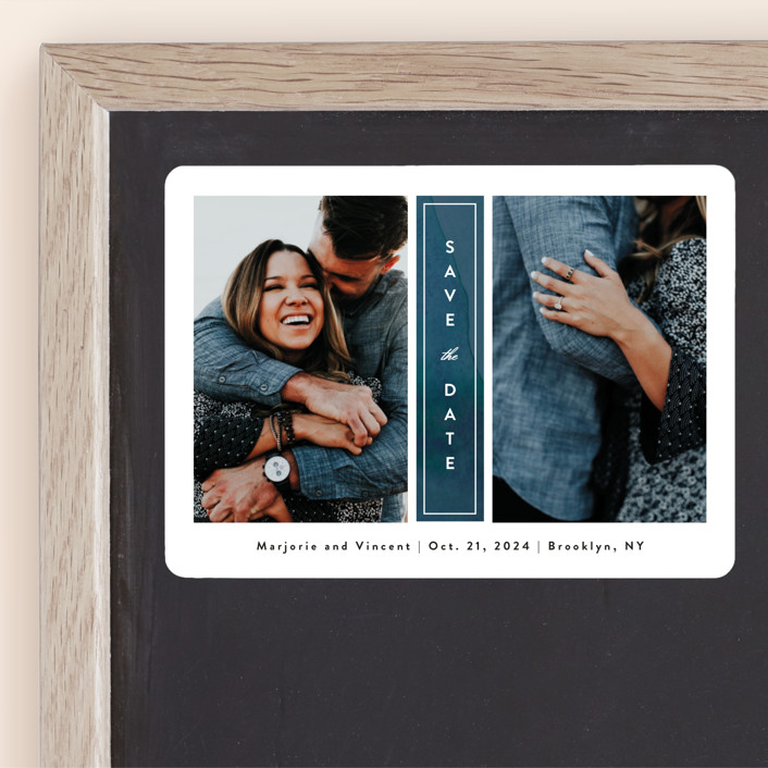 """""""Romantic Columns"""" - Save The Date Magnets in Dusty by Jessica Ogden."""
