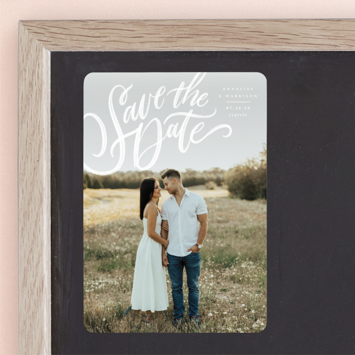"""Love Letters"" - Save The Date Magnets in Daisy by Wildfield Paper Co."