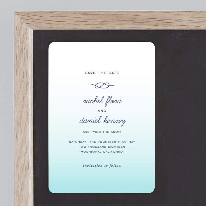 """""""Simple Knot"""" - Save The Date Magnets in Mint by SimpleTe Design."""