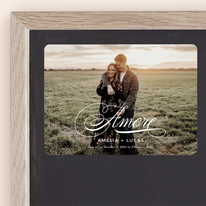 """""""giorno dell'amore"""" - Save The Date Magnets in Opal by Fig and Cotton."""