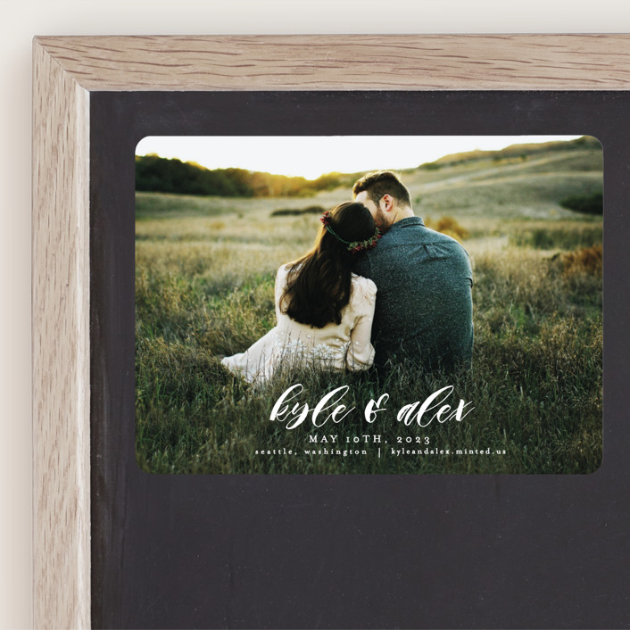 """""""Harmony"""" - Save The Date Magnets in Cream by AK Graphics."""