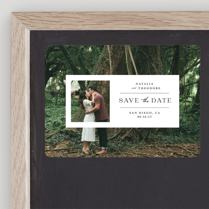 """""""Window"""" - Save The Date Magnets in Lily by Danie Romrell."""
