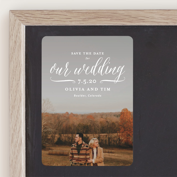 """""""Postcard Perfect"""" - Save The Date Magnets in Cloud by Lauren Chism."""