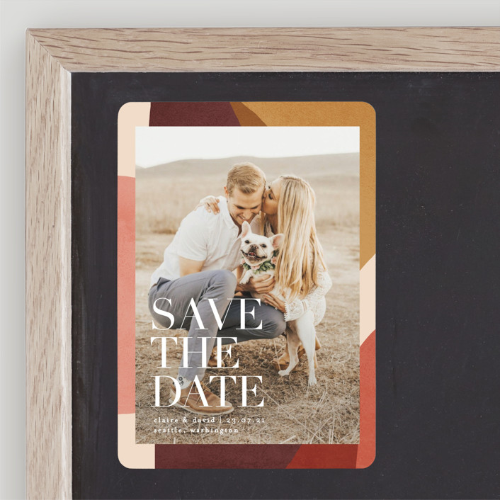 """Galeria"" - Save The Date Magnets in Autumn Desert by Kelly Schmidt."