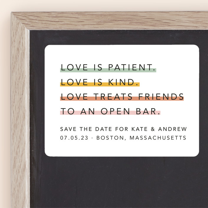 """Love is..."" - Save The Date Magnets in Sorbet by Hudson Meet Rose."
