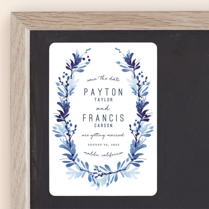 """willow frame"" - Save The Date Magnets in Lake by Robin Ott."