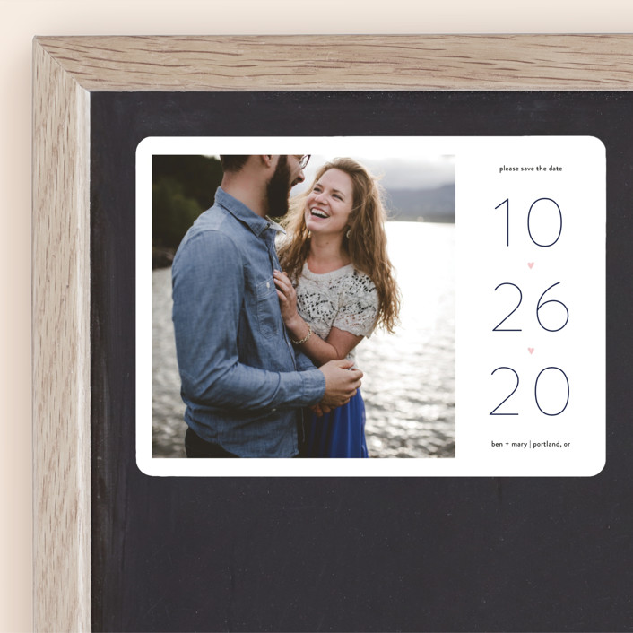 """""""Our Heart"""" - Save The Date Magnets in Vanilla by JoAnn Jinks."""