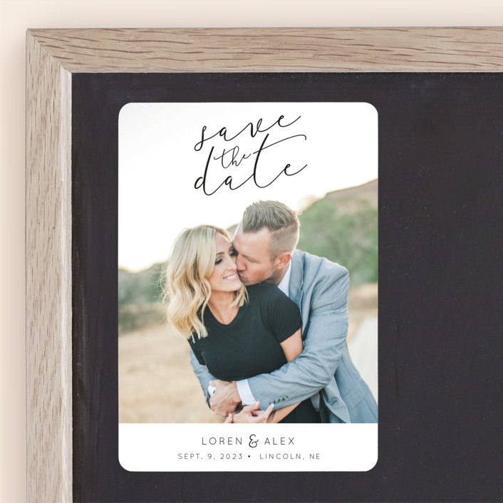 """Honest Love"" - Save The Date Magnets in Midnight by Christine Taylor."