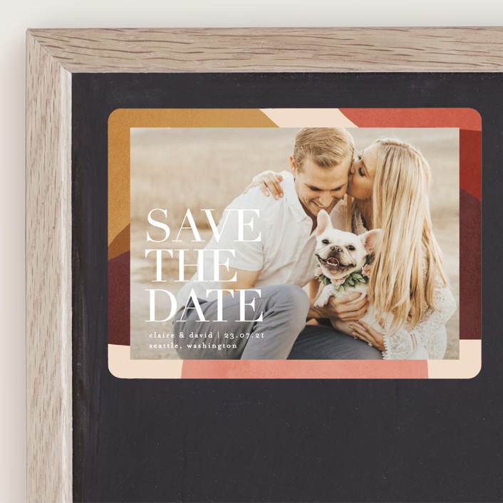"""Galeria"" - Save The Date Magnets in Autumn by Kelly Schmidt."