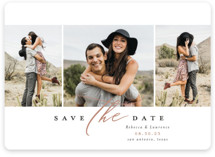 This is a brown save the date magnet by Laura Hamm called sweet thing with standard printing on magnet paper in magnet.