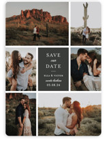 This is a grey save the date magnet by Sara Hicks Malone called multitude with standard printing on magnet paper in magnet.
