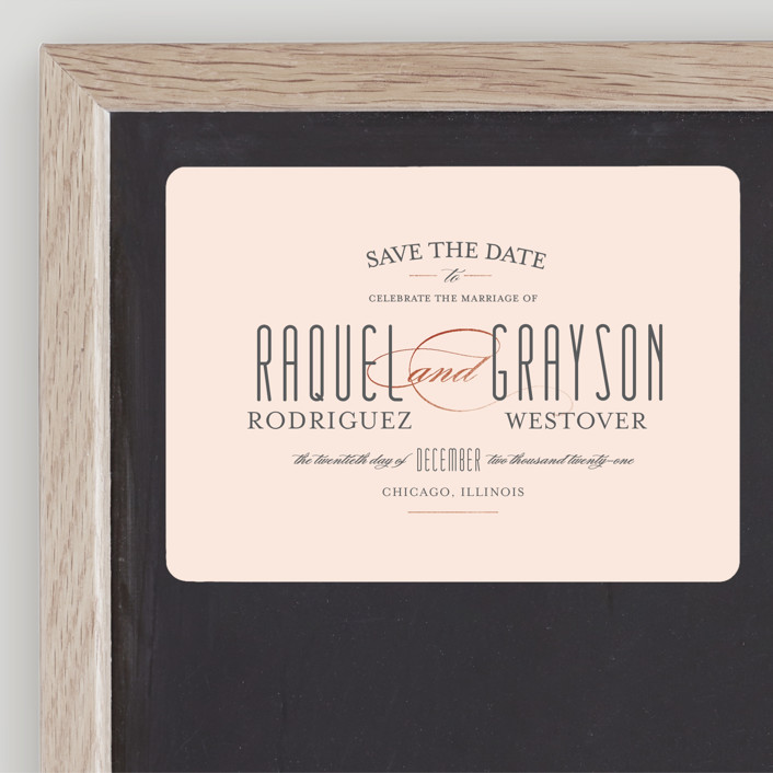 """""""Hyde Park"""" - Save The Date Magnets in Blush by Little Words Design."""