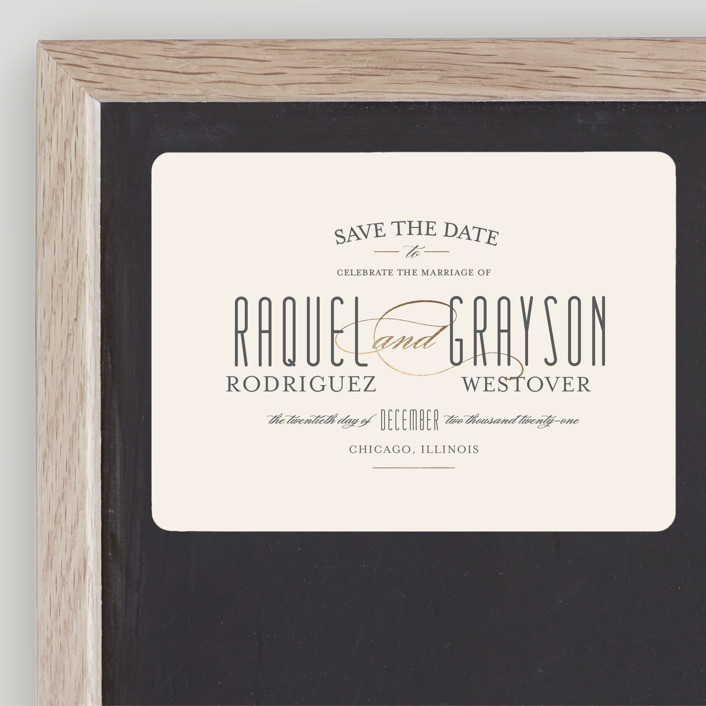 """Hyde Park"" - Save The Date Magnets in Soft Ivory by Little Words Design."
