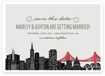 Big City - San Francisco Save The Date Magnets