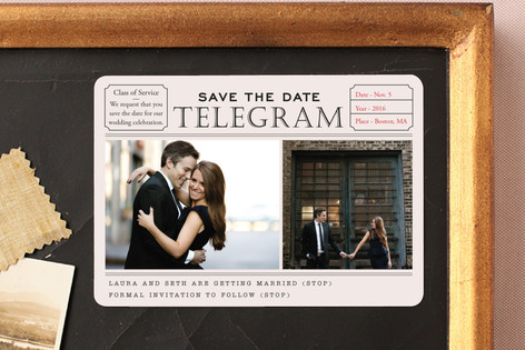 Telegram Save The Date Magnets