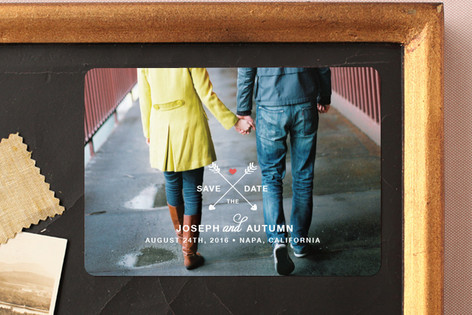 Arrows of Love Save The Date Magnets