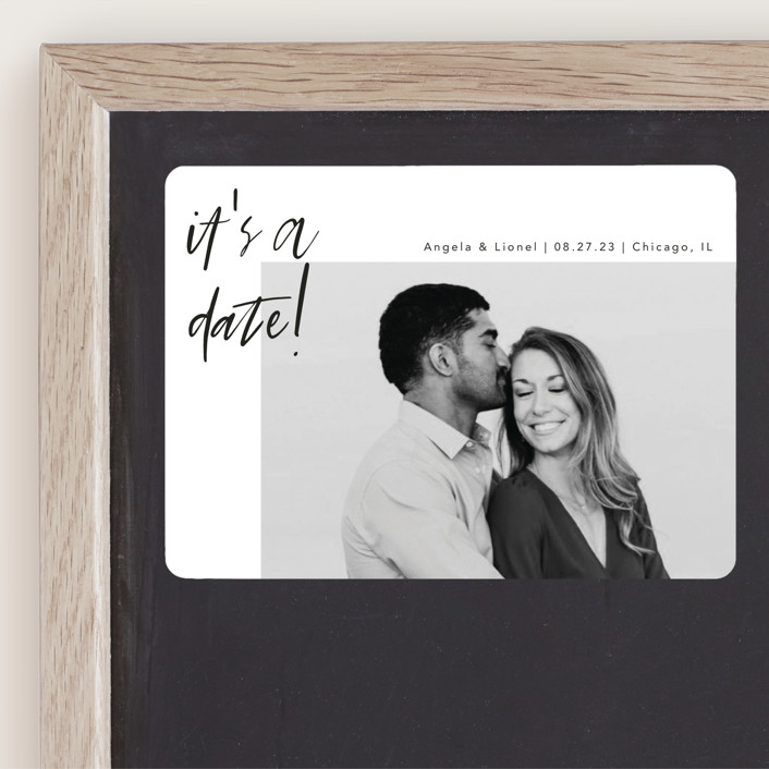 """""""A Date"""" - Save The Date Magnets in Ink by lulu and isabelle."""