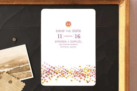 Abstract Autumn Save The Date Magnets