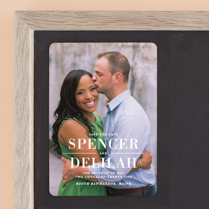 """""""Effortless"""" - Modern Save The Date Magnets in Frost by Lauren Chism."""