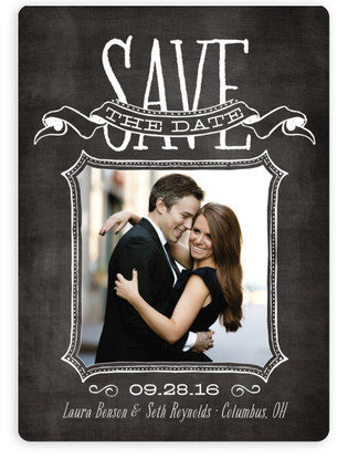 photo of Chalked Save The Date Magnets
