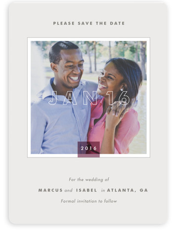 This is a portrait modern, simple, purple Save the Dates by Stacey Meacham called Art Museum with Standard printing on Magnet Paper in Magnet Flat Card format. Our most popular Save the Date designs are now available as beautiful, high ...