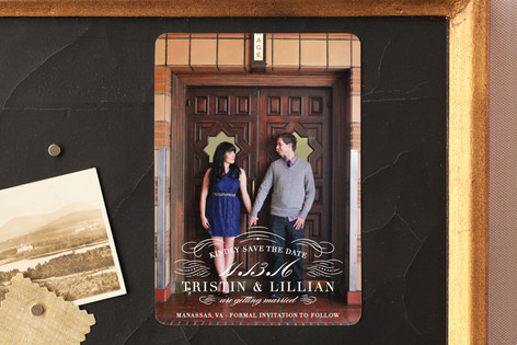 Refined Save The Date Magnets