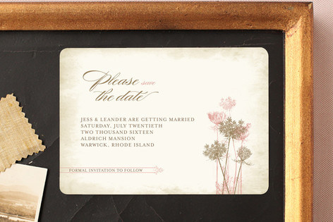 Rustic Queen Anne Save The Date Magnets
