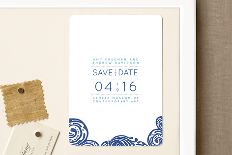 Contemporary Chic Save The Date Magnets