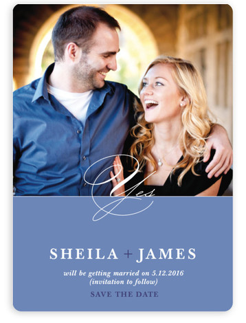 This is a portrait formal, blue Save the Dates by Jenifer Martino called A Modern Yes with Standard printing on Magnet Paper in Magnet Flat Card format. Our most popular Save the Date designs are now available as beautiful, high ...