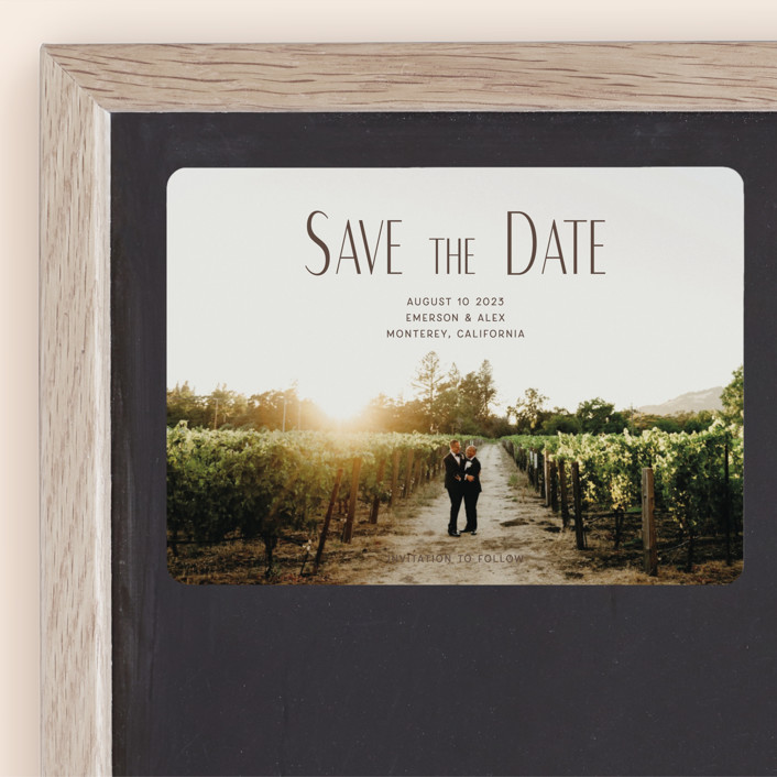 """""""it's our turn"""" - Save The Date Magnets in Noir by frances."""