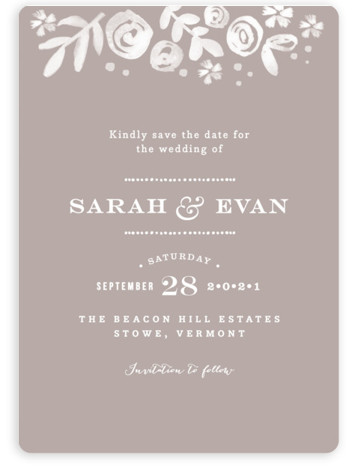 This is a portrait botanical, grey Save the Dates by Jennifer Wick called Sun Bleached Florals with Standard printing on Magnet Paper in Magnet Flat Card format. Our most popular Save the Date designs are now available as beautiful, high ...