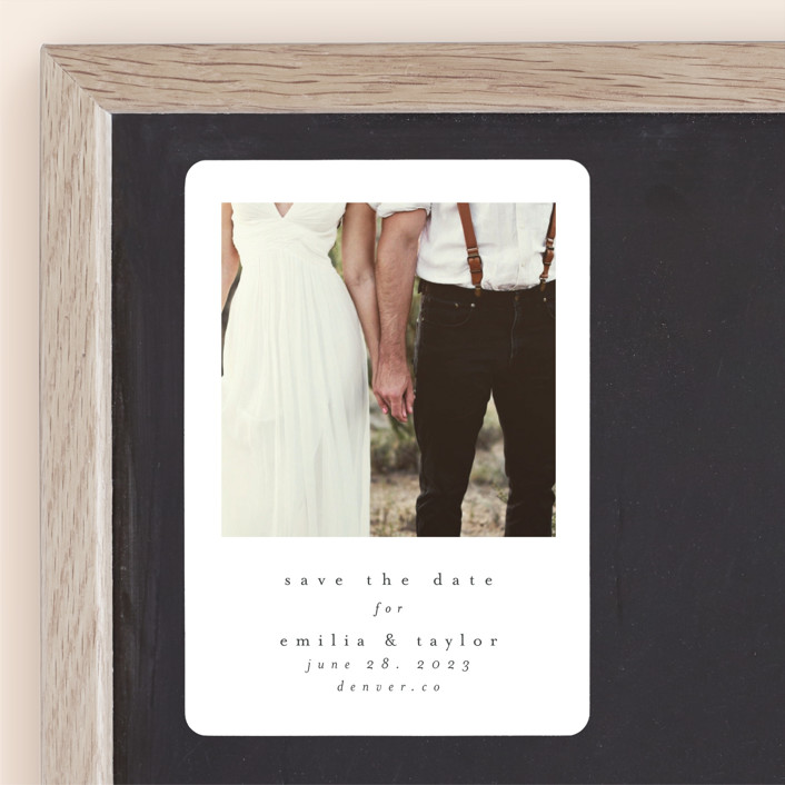 """meant to be"" - Save The Date Magnets in Ebony by Angela Thompson."