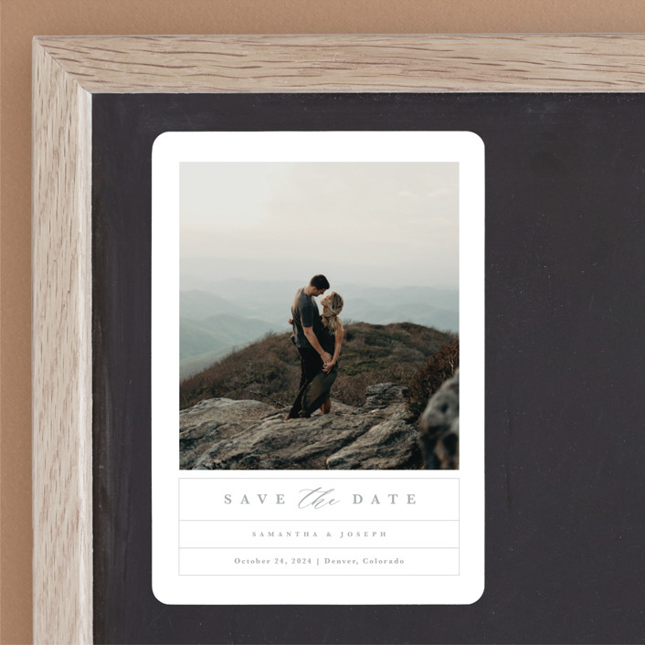 """""""Simple Grid"""" - Save The Date Magnets in Fog by Kristen Smith."""