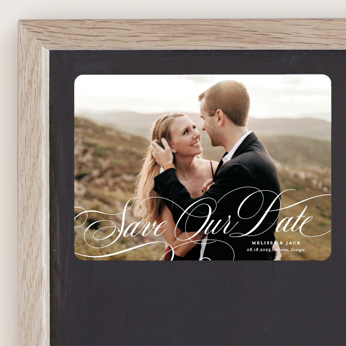 """""""Resplendent"""" - Save The Date Magnets in Vanilla by Sarah Brown."""