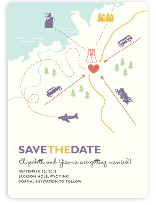 Two Brides Destination Save the Date Magnets