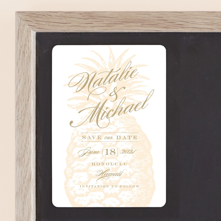 """""""Botanica"""" - Save The Date Magnets in Cognac by Sarah Curry."""