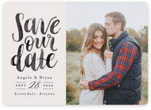 Brushed Date Save the Date Magnets By Pink House Press