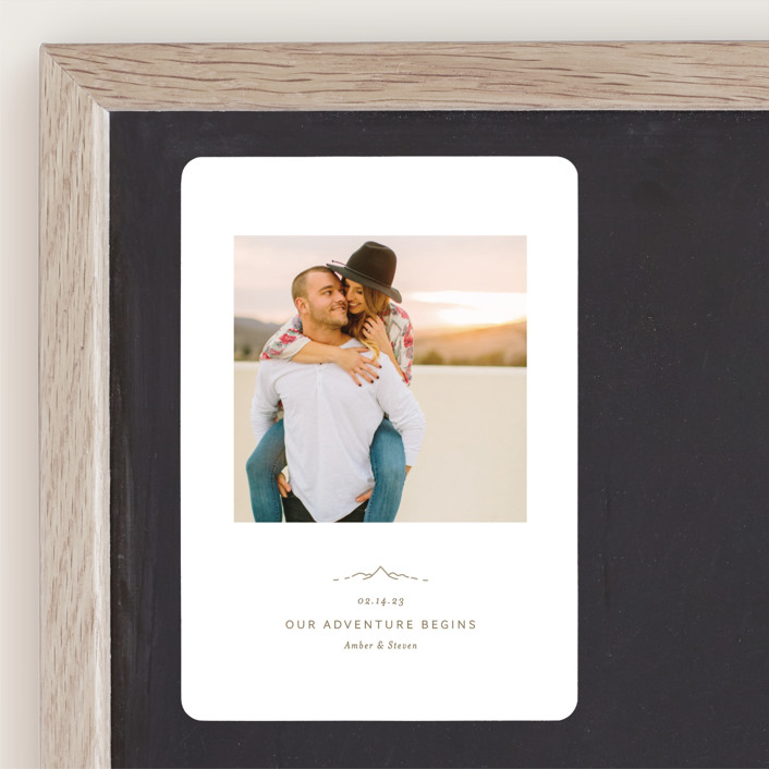 """""""Let the Adventure begin"""" - Save The Date Magnets in Latte by Heather Francisco."""