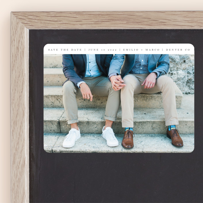 """""""Forevermore"""" - Save The Date Magnets in Ebony by Angela Thompson."""