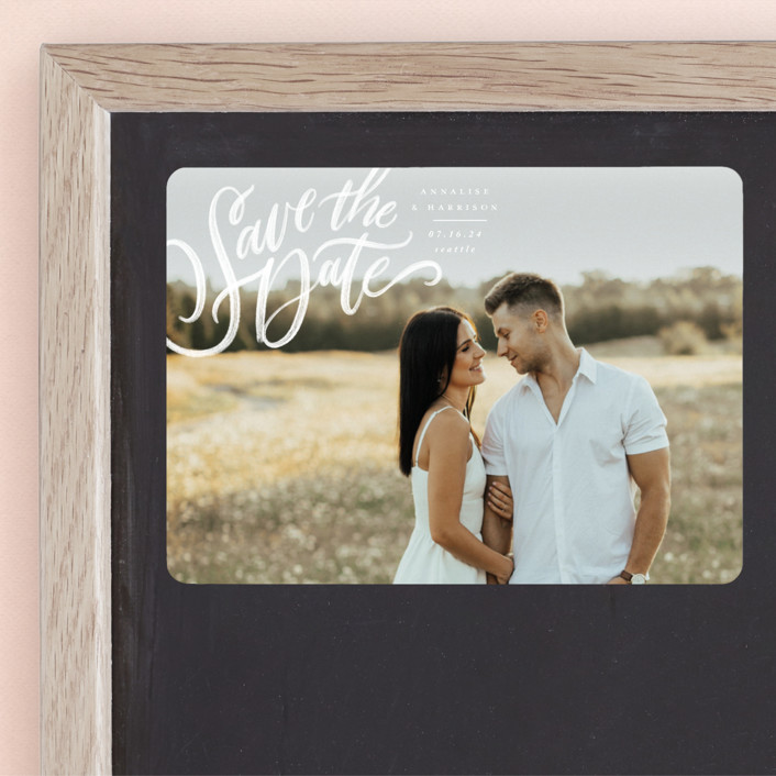 """""""Love Letters"""" - Save The Date Magnets in Daisy by Wildfield Paper Co."""