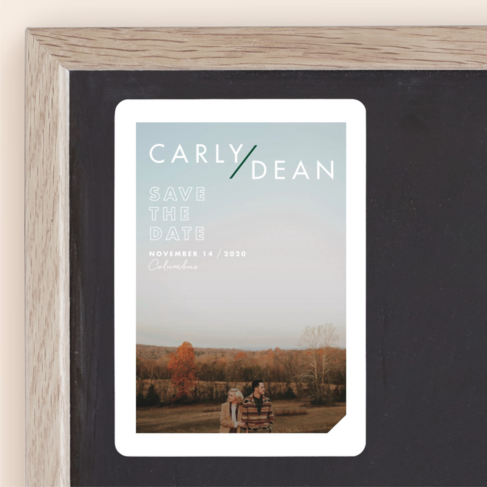 """Modern Expression"" - Save The Date Magnets in Spruce by Keen Peachy."