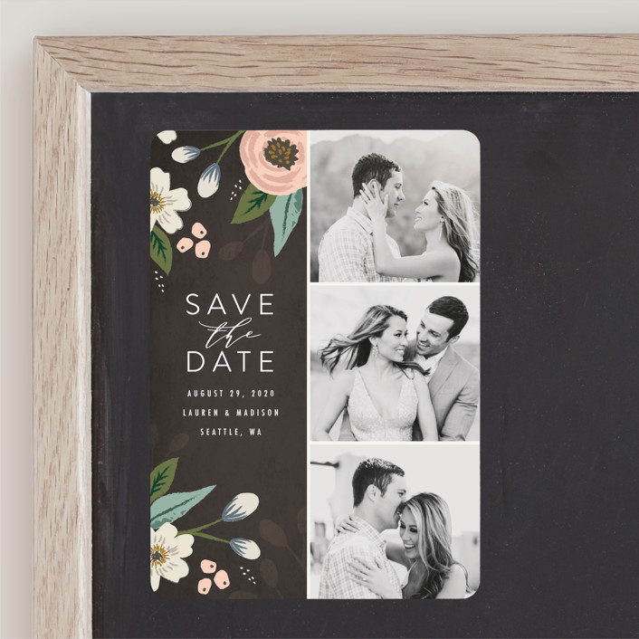 """Love in Bloom"" - Save The Date Magnets in Blush by Karidy Walker."